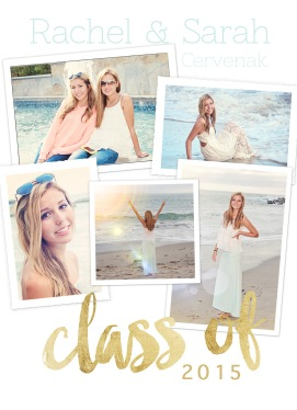 senior announcement cards